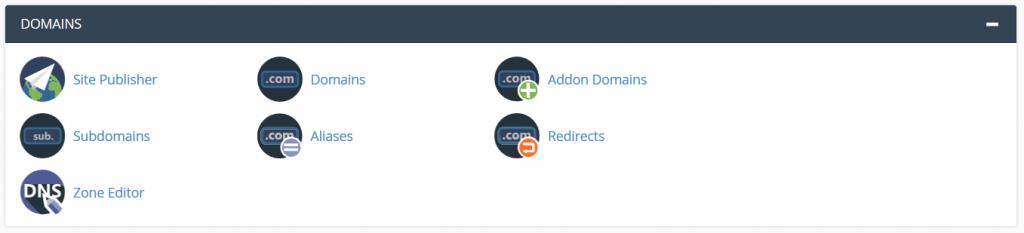 ابزار های دامنه – Domains
